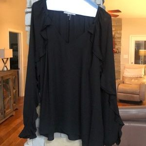 Black long sleeved blouse-Sioni